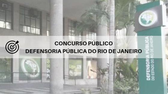 Concurso DPE RJ 2019