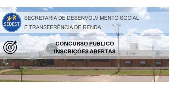 Concurso SEDEST DF 2019