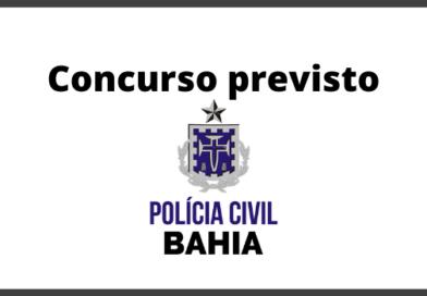 Concurso PC BA 2020 - PREVISÃO