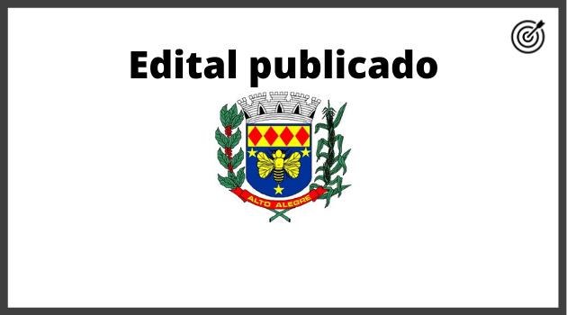 Concurso PREFEITURA ALTO ALEGRE SP 2020