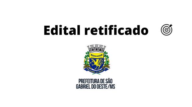 Concurso PREFEITURA DE SÃO GABRIEL DO OESTE MS 2020