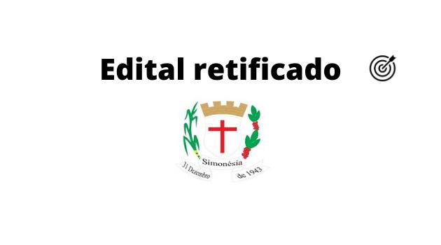 Concurso PREFEITURA DE SIMONÉSIA MG 2020