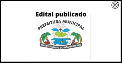 Concurso da PREFEITURA DE ESPÍRITO SANTO DO DOURADO MG 2021