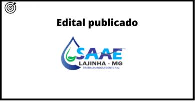 Concurso do SAAE DE LAJINHA MG 2021